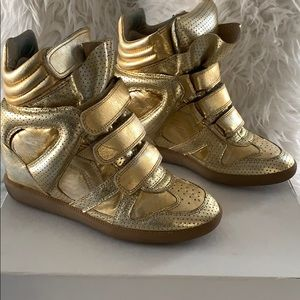 Isabel Marant Over Golden Bird Sneakers Size 37